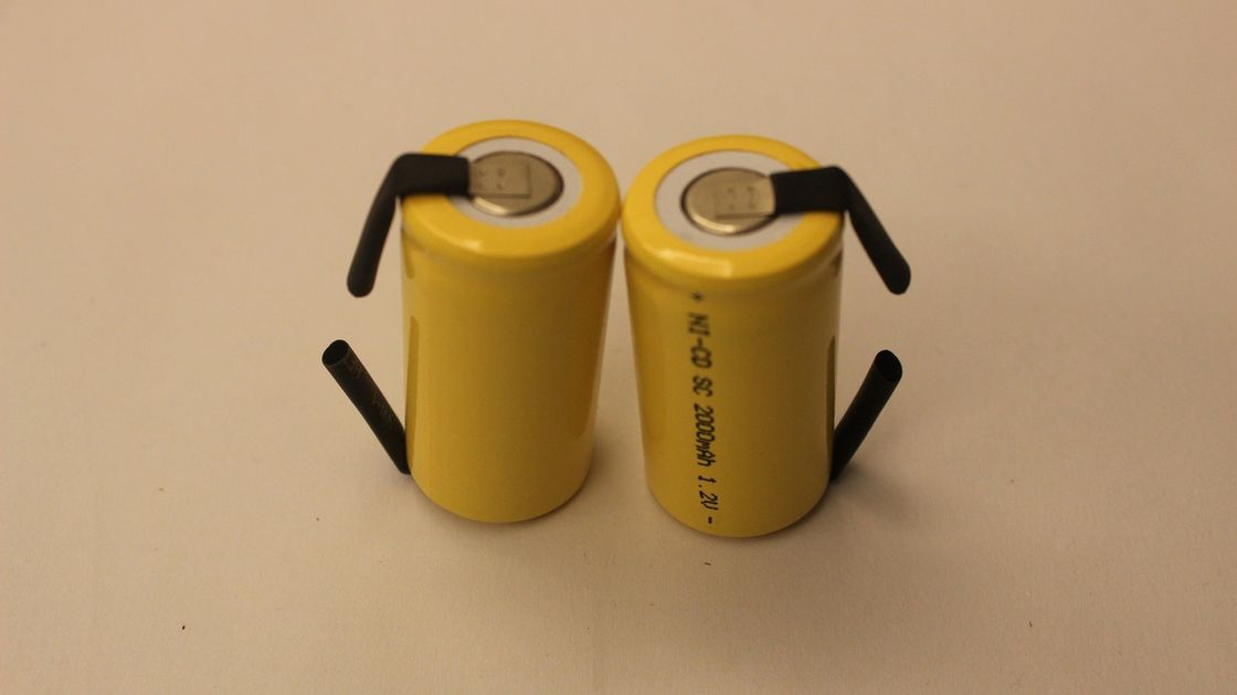 SC Size 1.2V Cylindrical Nicd Battery Packs 2000mAh for R/C Hobbies