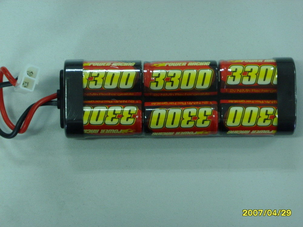 R/C Car NIMH Rechargeable Batteries SC3300mAh 7.2V , Lithium Battery Pack