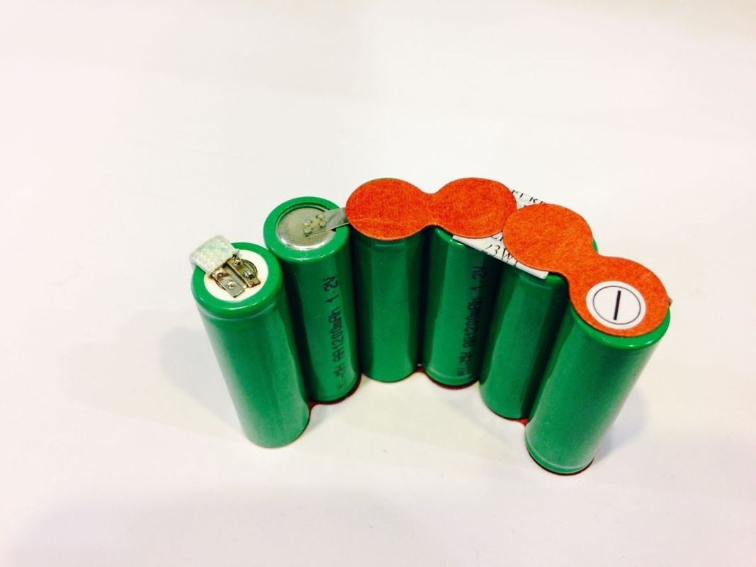 Customized Green Energy Nimh Battery Packs 7.2V 1200mAh Low Internal Resistance