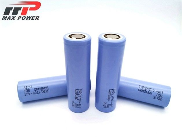 45A dicharge rate Original SAMSUNG Lithium Ion Battery Pack INR21700 40T 4000mAh 3.7V 45A Dicharge