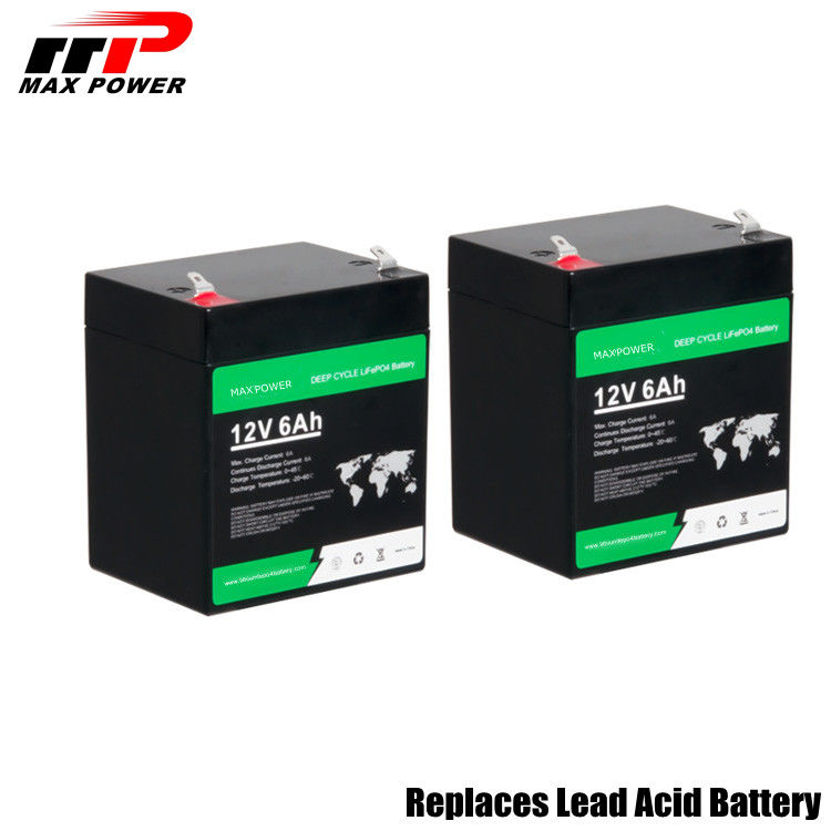 MSDS DG License Lithium LiFePO4 Battery 12.8V 6Ah 76.8W With 1 Year Guarantee