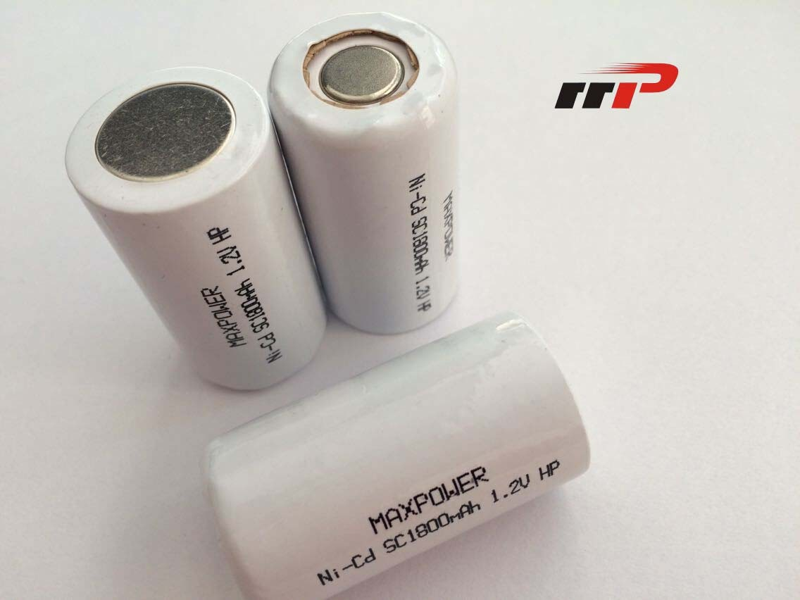 NiCd Rechargable Batteries High Rate SC 1800mAh High power